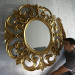 luxury-gold-leaf-extra-large-round-mirror-solid-mahogany-5015